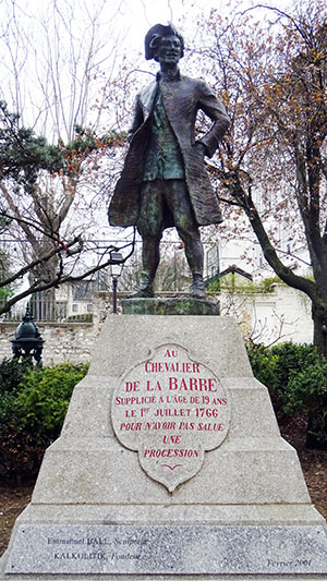 Chevalier de la Barre - Paris